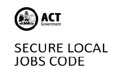 secure local jobs code logo